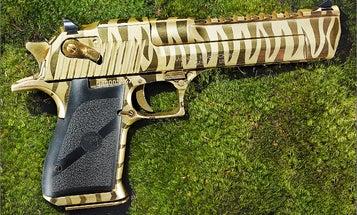 Best Hunting Handgun of 2013: Titanium Gold Tiger Stripe Desert Eagle Mark XIX .50 AE