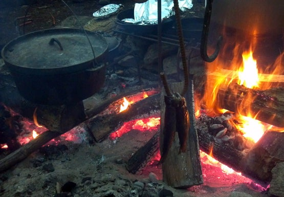 Cooking Whole Trout Over A Fire