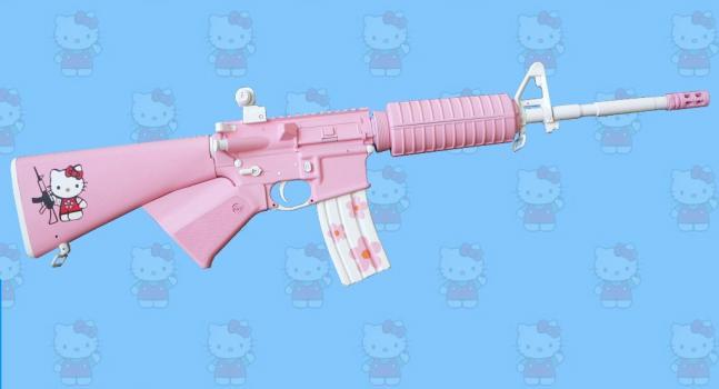 httpswww.fieldandstream.comsitesfieldandstream.comfilesimport2014importBlogPostembedhello-kitty-ar-15-rifle1.jpg