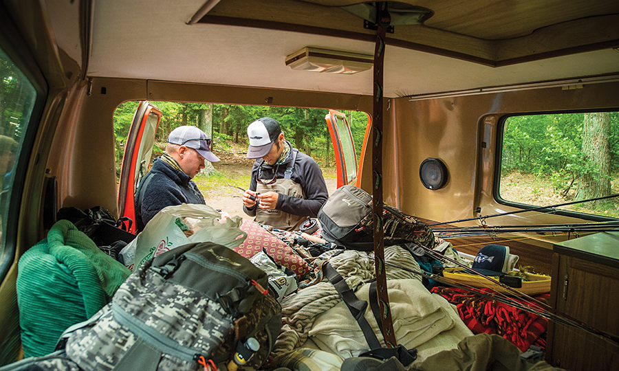 Pack your truck bed to the gills to find fish and sleep by the river.