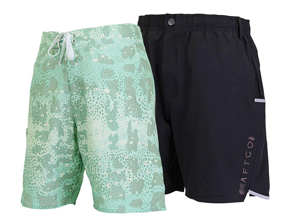 Aftco Grouper Boardshorts and Cyberfish Hybrid Shorts
