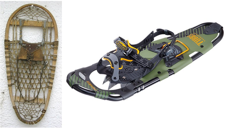 snowshoes, traditional ash rawhide, tubbs, webs
