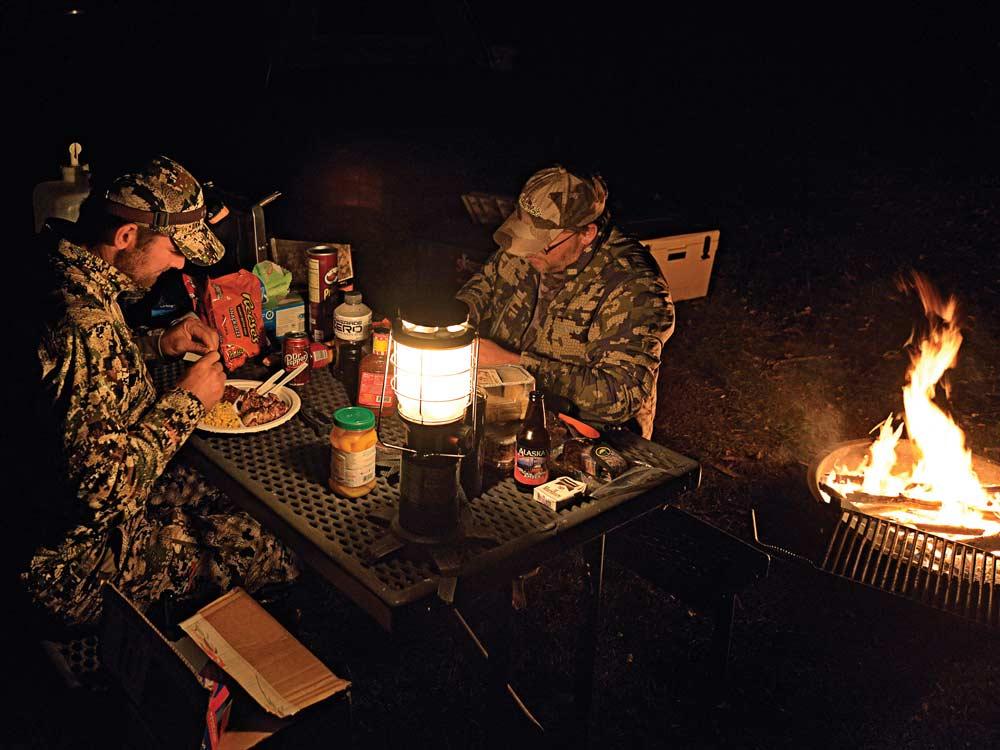 hunting camping tips eat sleep