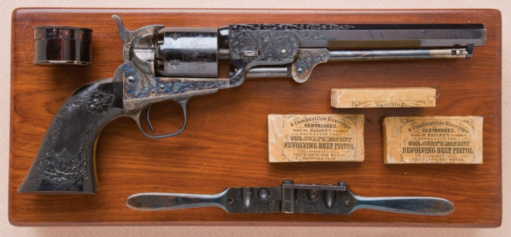 httpswww.fieldandstream.comsitesfieldandstream.comfilesimport2014importImage2011photo38356zFine_and_Exceptional_Cased_Engraved_and_Relief_Carved_and_Checkered_Ebony-Gripped_Colt_Model_1851_Navy_Revolver_Known_as_The_Black_Beauty_-_1.jpg