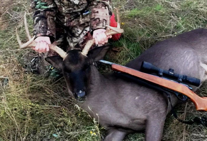 Texas Teen Harvests Ultra-Rare All-Black Whitetail