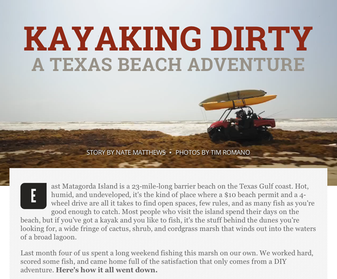 Digital Feature: Chasing Reds and Kayaking Dirty On The Texas Gulf Coast
