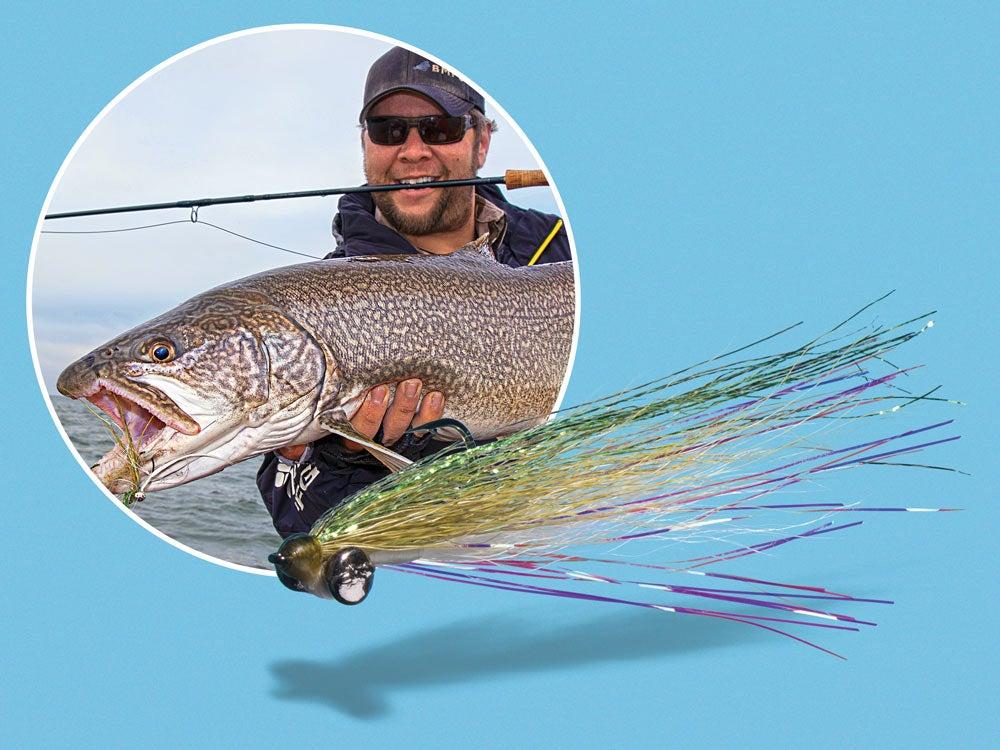 Lake trout flyfishing dredge