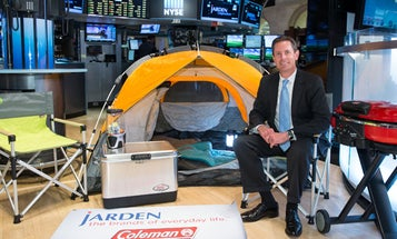 Coleman Sets Up Campsite Inside the New York Stock Exchange