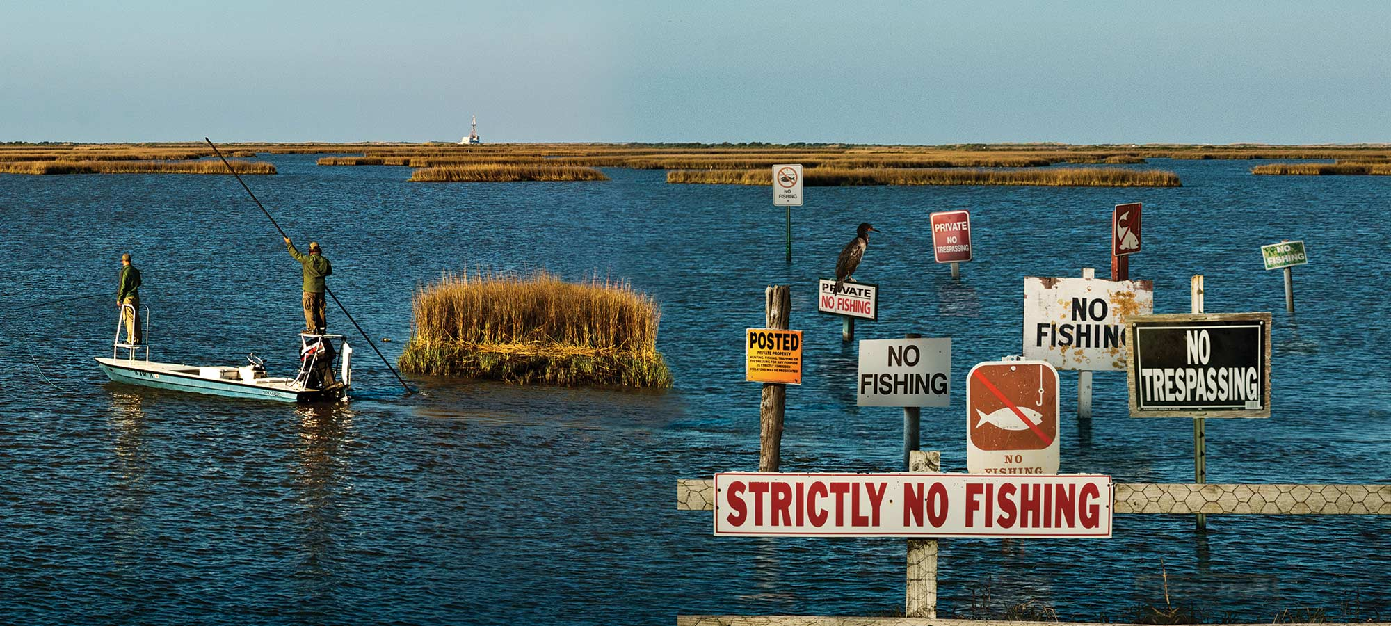 public waters no fishing signs