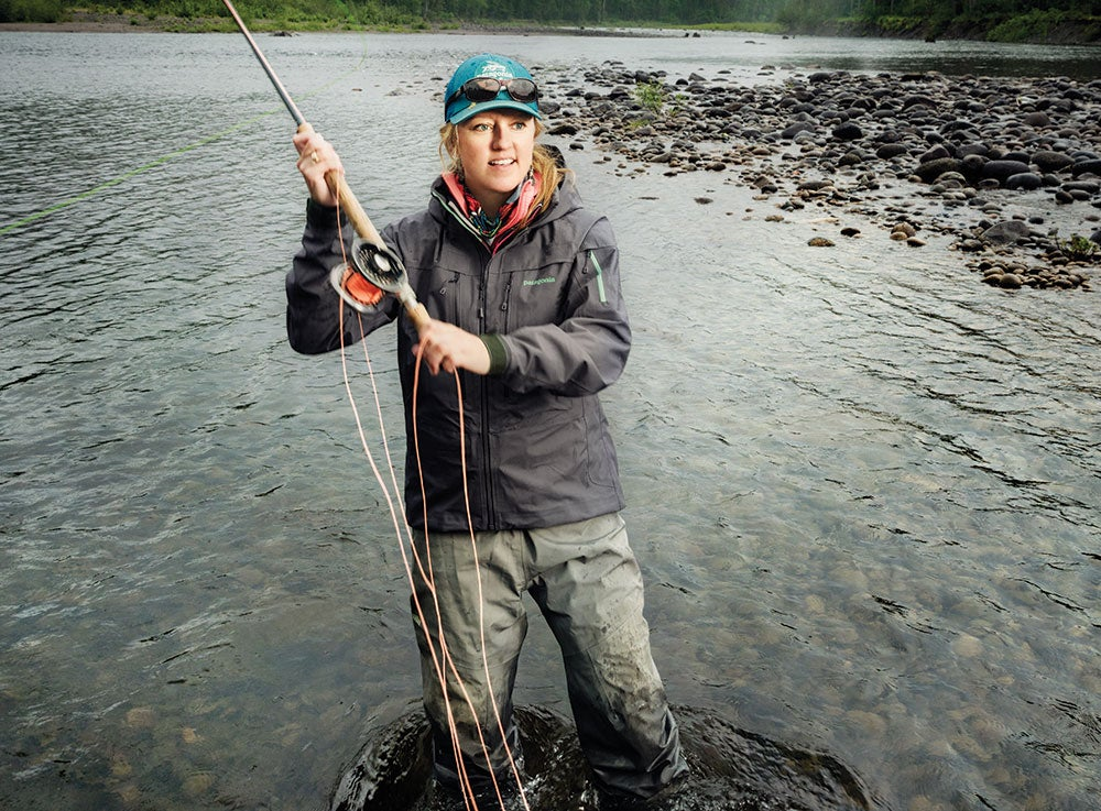 kate taylor, kate, taylor, women, woman, adventure, fishing, flyfishing, steelhead, guide, F&S, cover story
