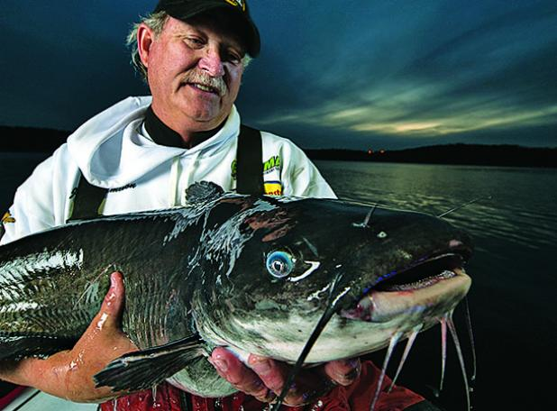 Go nocturnal for giant summer catfish.