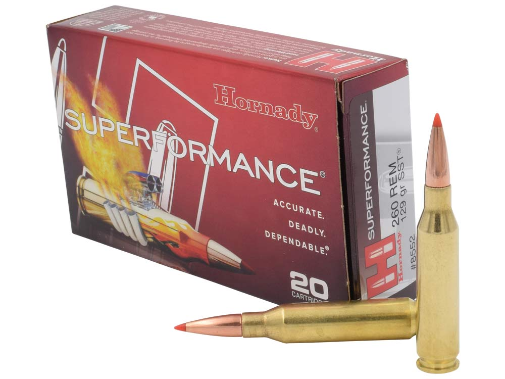 hornady 260 remington rifle ammunition