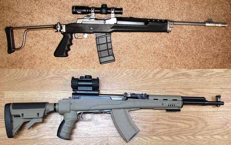 Gunfight Friday: SKS vs. Mini-14