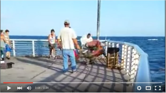 Two Anglers Throw Down Over Best Spot On Fishing Pier