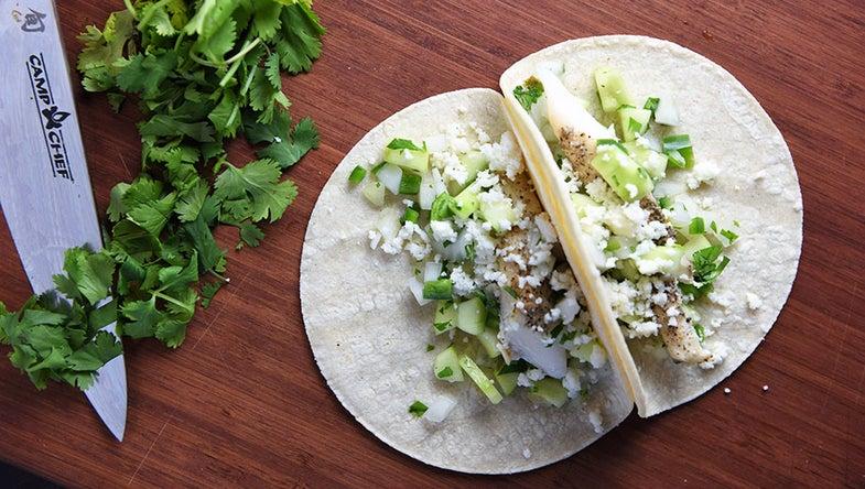 smoked fish tacos, tacos, fish, white fish, wild chef
