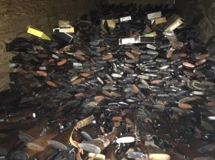 Thousands of Stolen Guns Found in South Carolina Home