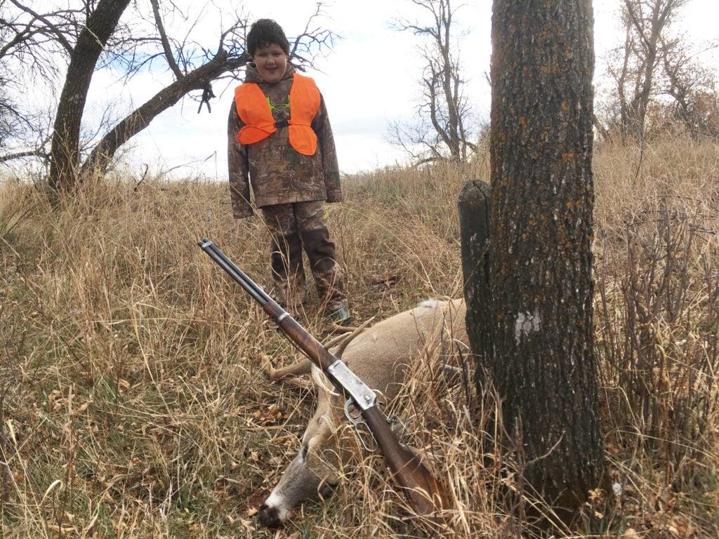Model 94 .25-35, Doug, son, deer, whitetail
