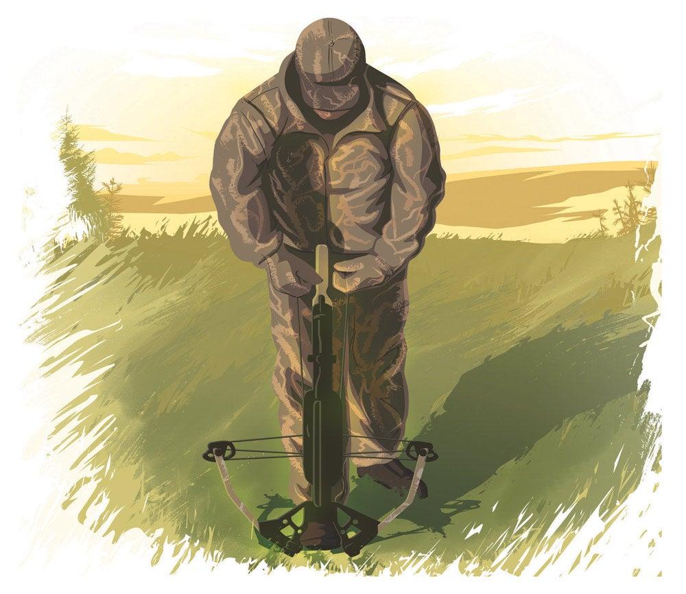 Crossbow hunting illustration