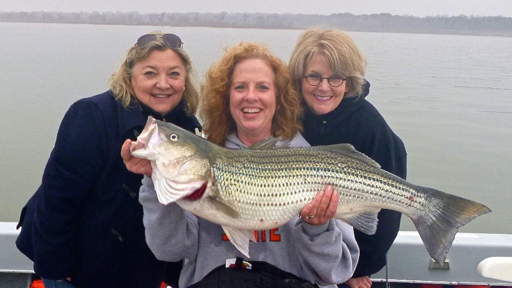 Dallas Woman Nets Record Lake Texoma Striper