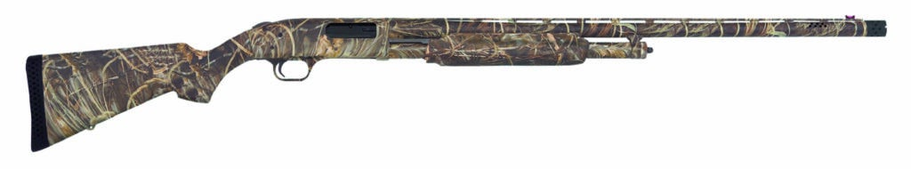 The Mossberg 500 on a white background.