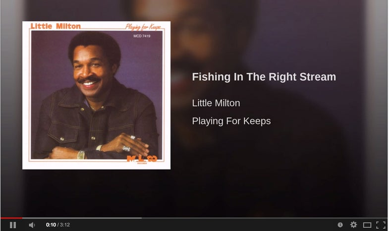 """""""Fishing In The Right Stream,"""" By Little Milton"""