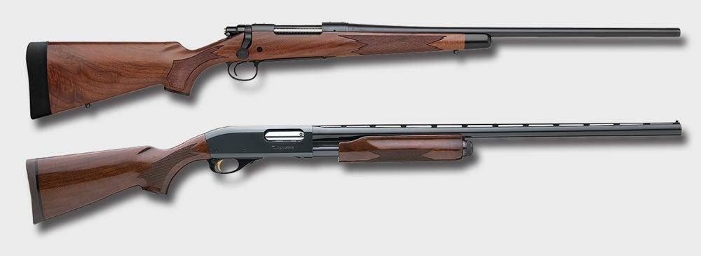 remington model 700 rifle and model 870 shotgun