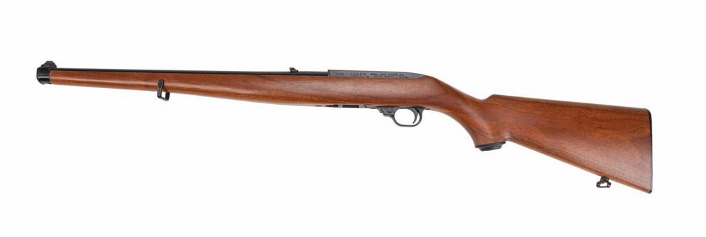 A Ruger 10/22 rifle on a white background.