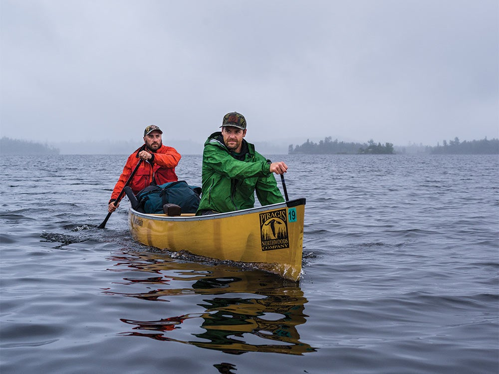 boundary waters canoe paddling storm