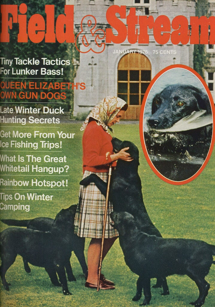 field and stream's january 1976 issue with Queen Elizabeth