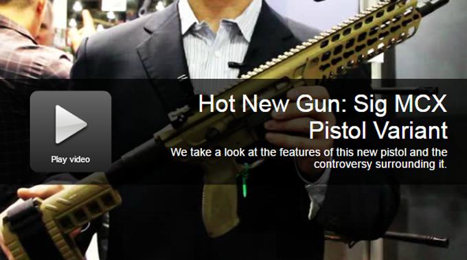 Hot New Gun: Sig MCX Pistol Variant