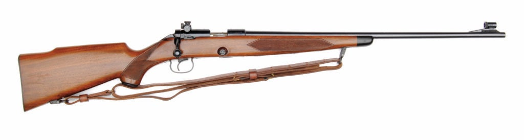 The Winchester Model 52 Sporter on a white background.