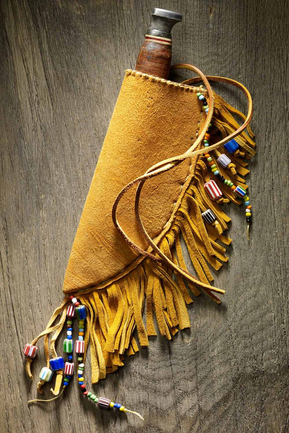 buckskin knife sheath how to