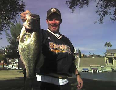 Fishing in a private lake in southern California, Hugh Swanke caught this 9-pound, 3-ounce largemouth earlier this year.