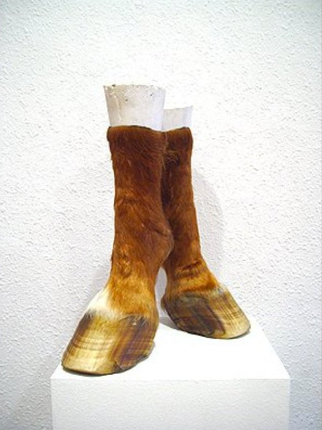 Bizarre Animal-Hoof Shoes