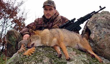 Dimitar Rusev shot this jackal in Bulgaria last November with his SLR-101.