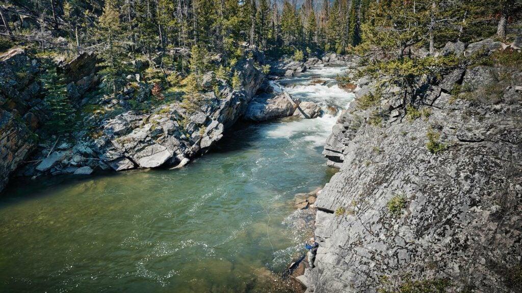 yvon chouinard fishing in stream