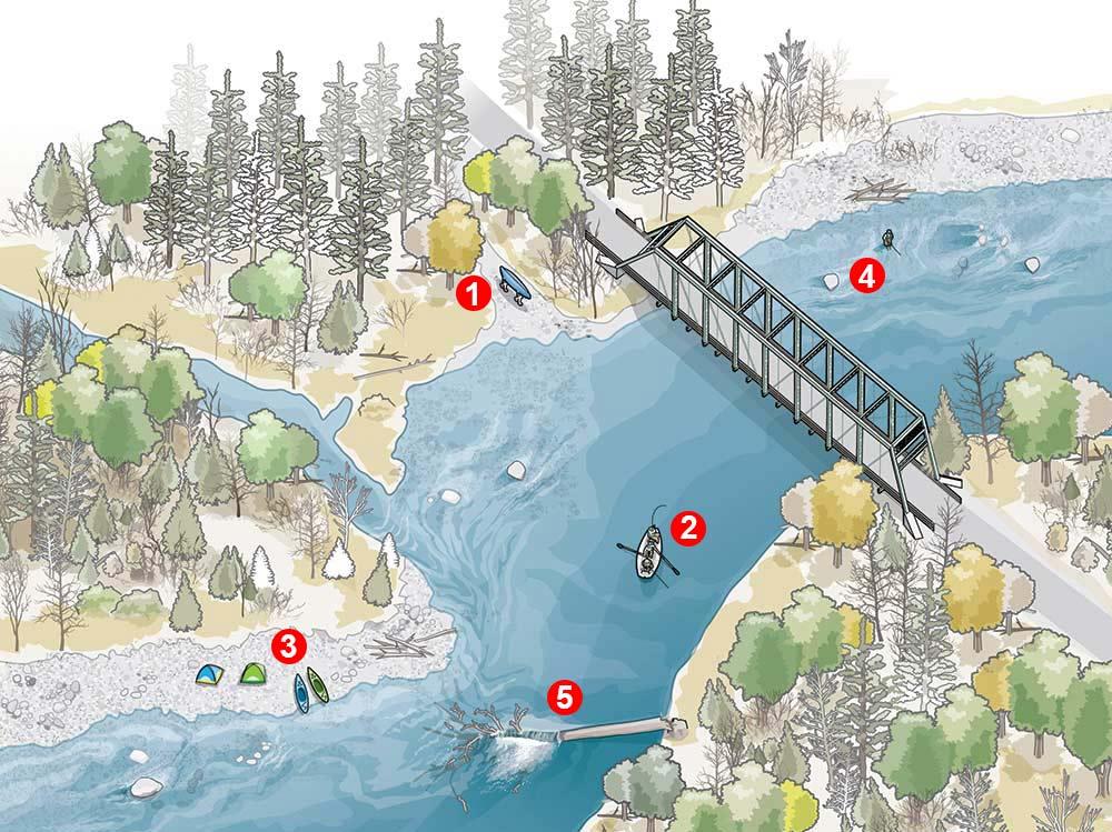 river access illustration
