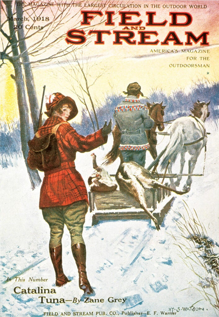 cover, vintage, F&S, woman, hunting