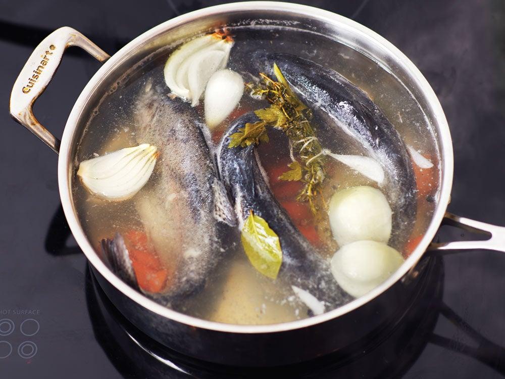 cooking trout au bleu recipe