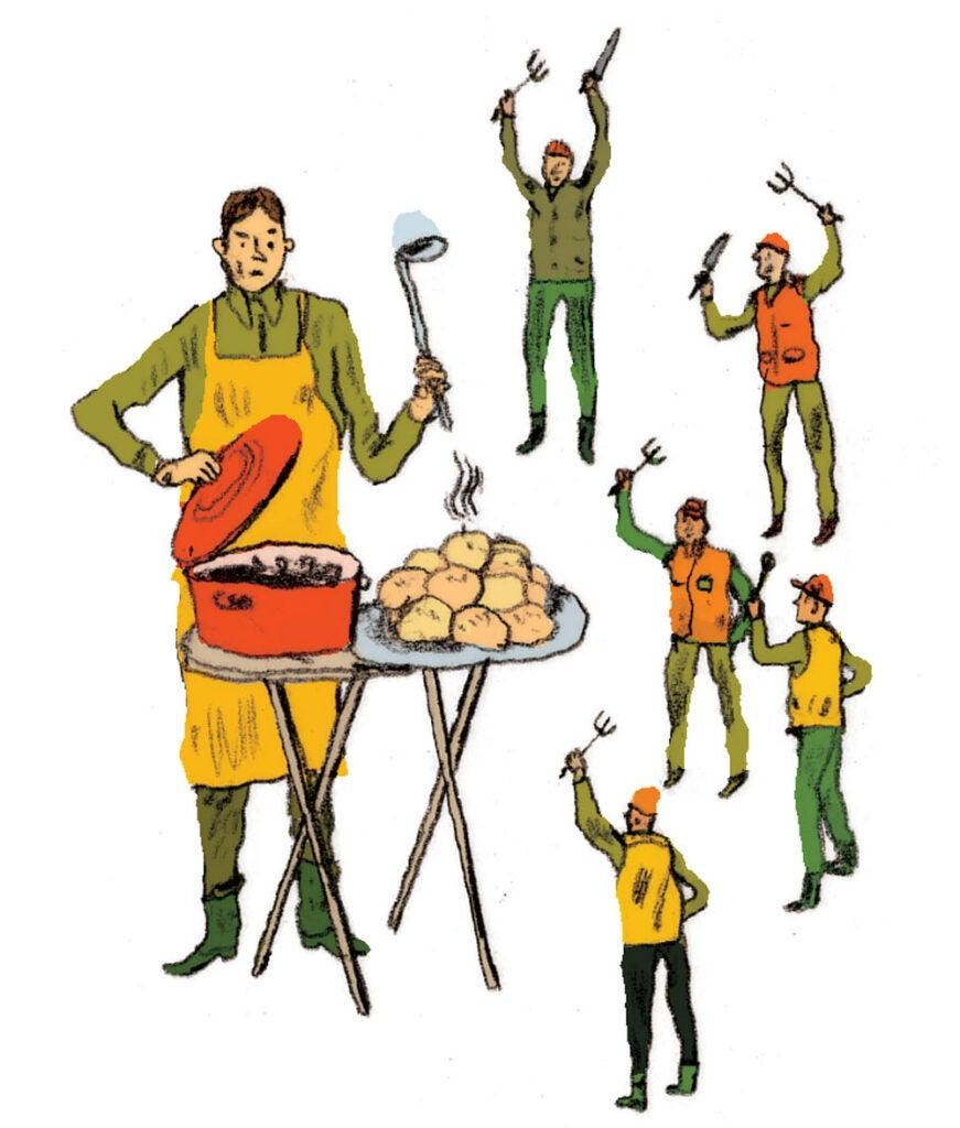 deer camp cooking feed everyone