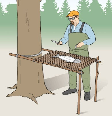 Summer Project: Build a Camp Table With Sticks and Paracord