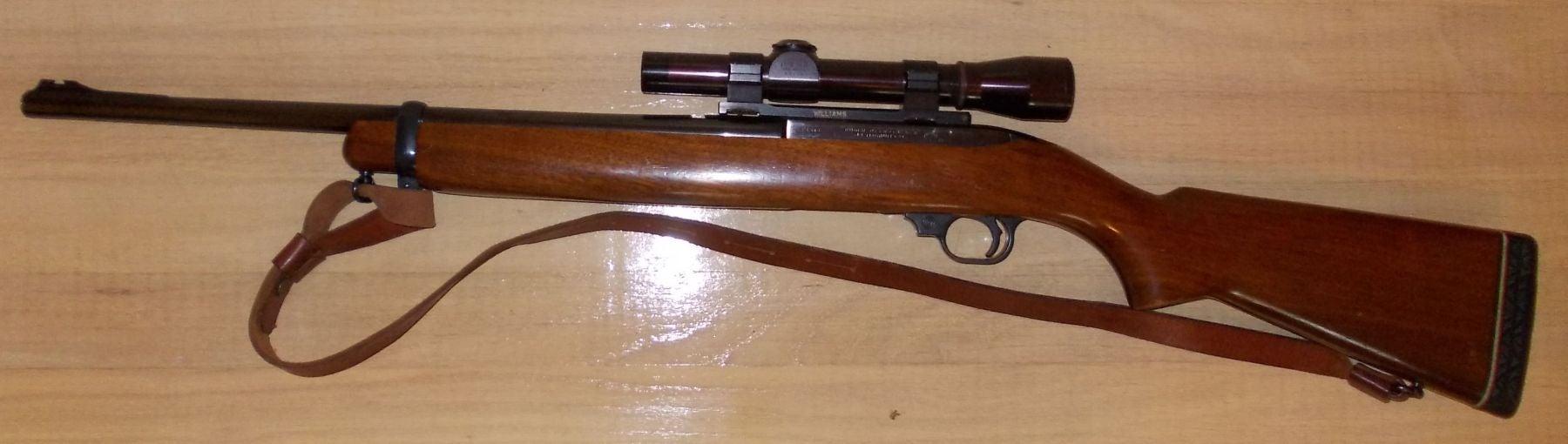 Ruger Deerstalker .44 magnum semiauto rifle, leupold scope