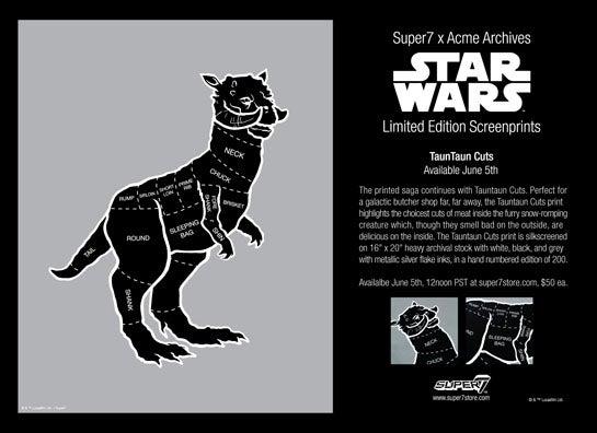 Star Wars Cuisine: The Tauntaun Butcher Chart