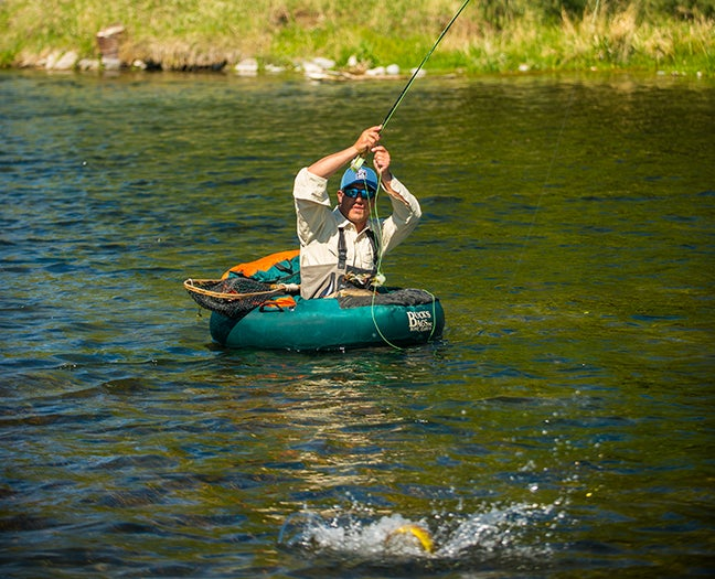 How to Use a Float Tube to Sneak Up on Trout, Pike, and Bass