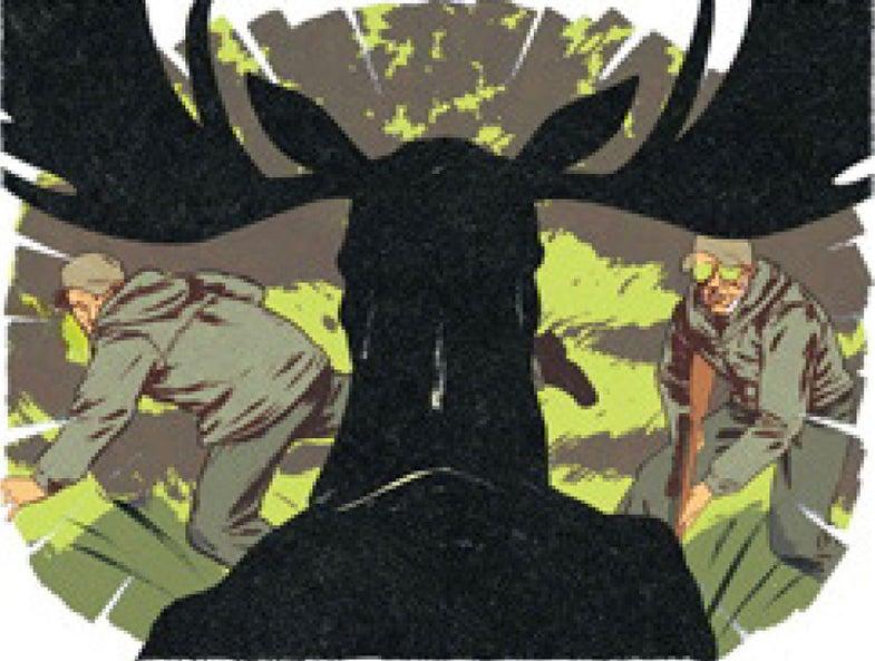Close Calls: Two Hunters Dodge a Charging Moose