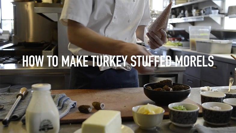 turkey-stuffed morel mushroom recipe