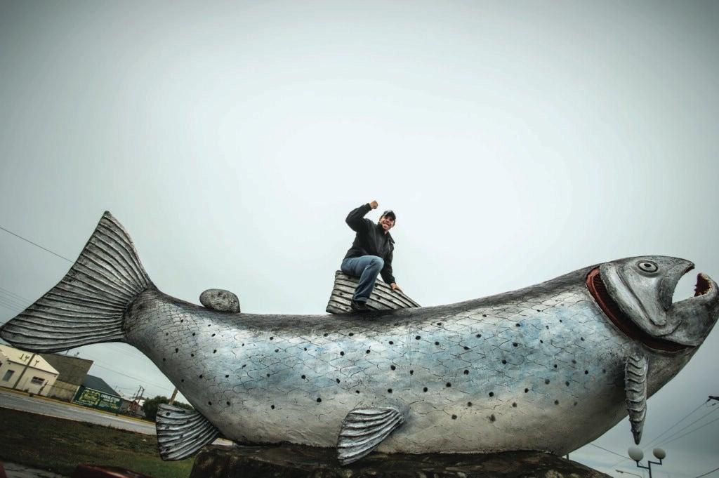 brown trout sculpture