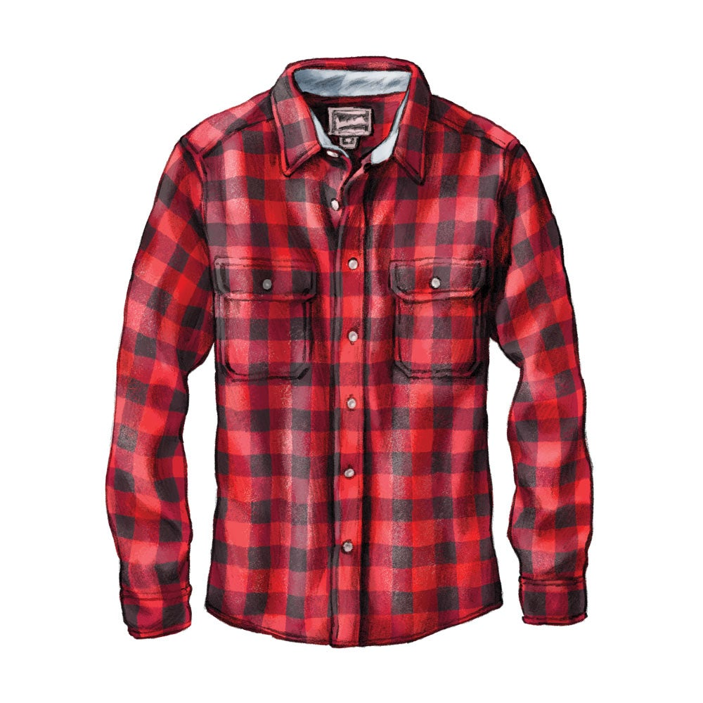 Woolrich Made in America Buffalo Wool Shirt