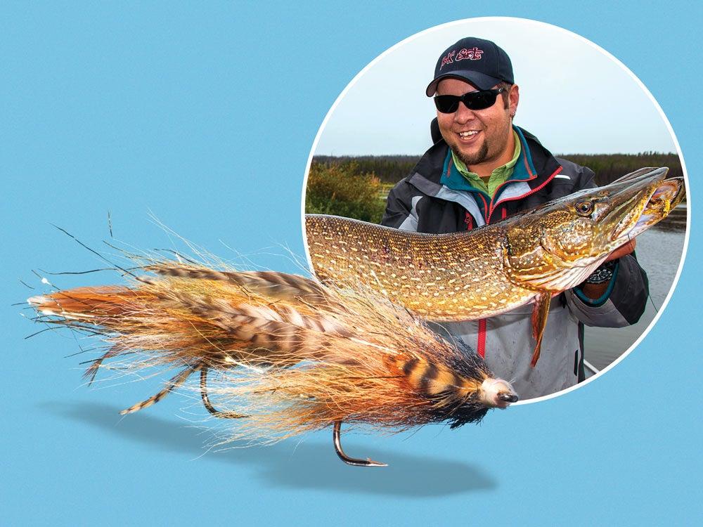 Northern Pike flyfishing dredge