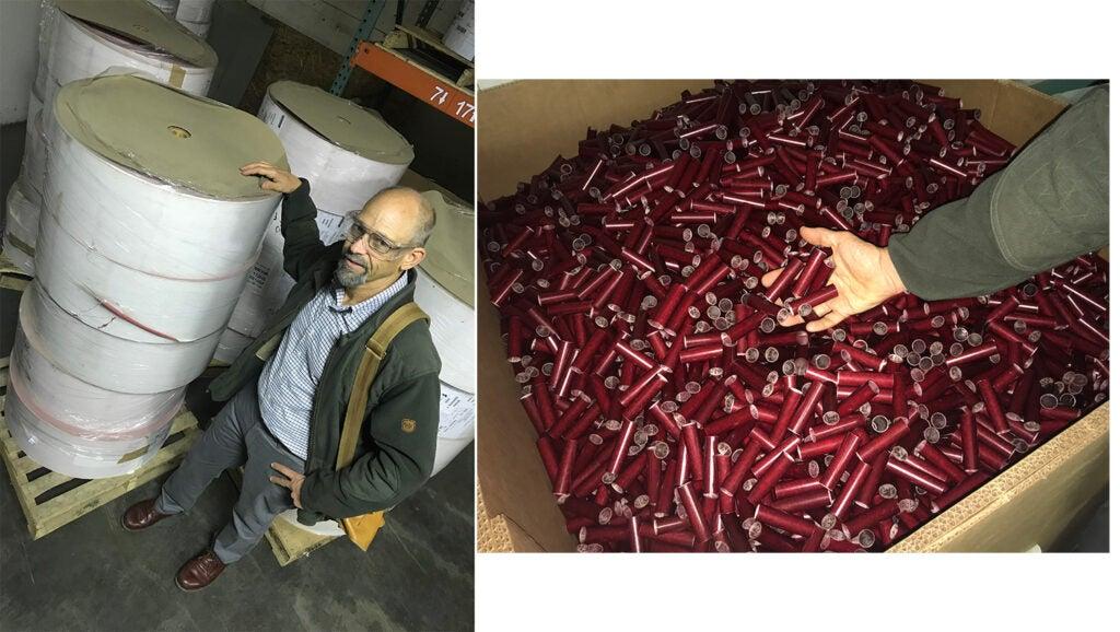 Phil Bourjaily, Federal Premium factory, paper roll, shotshells